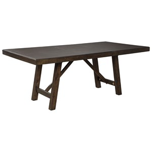 Rectangular Dining Table with Extension Leaf