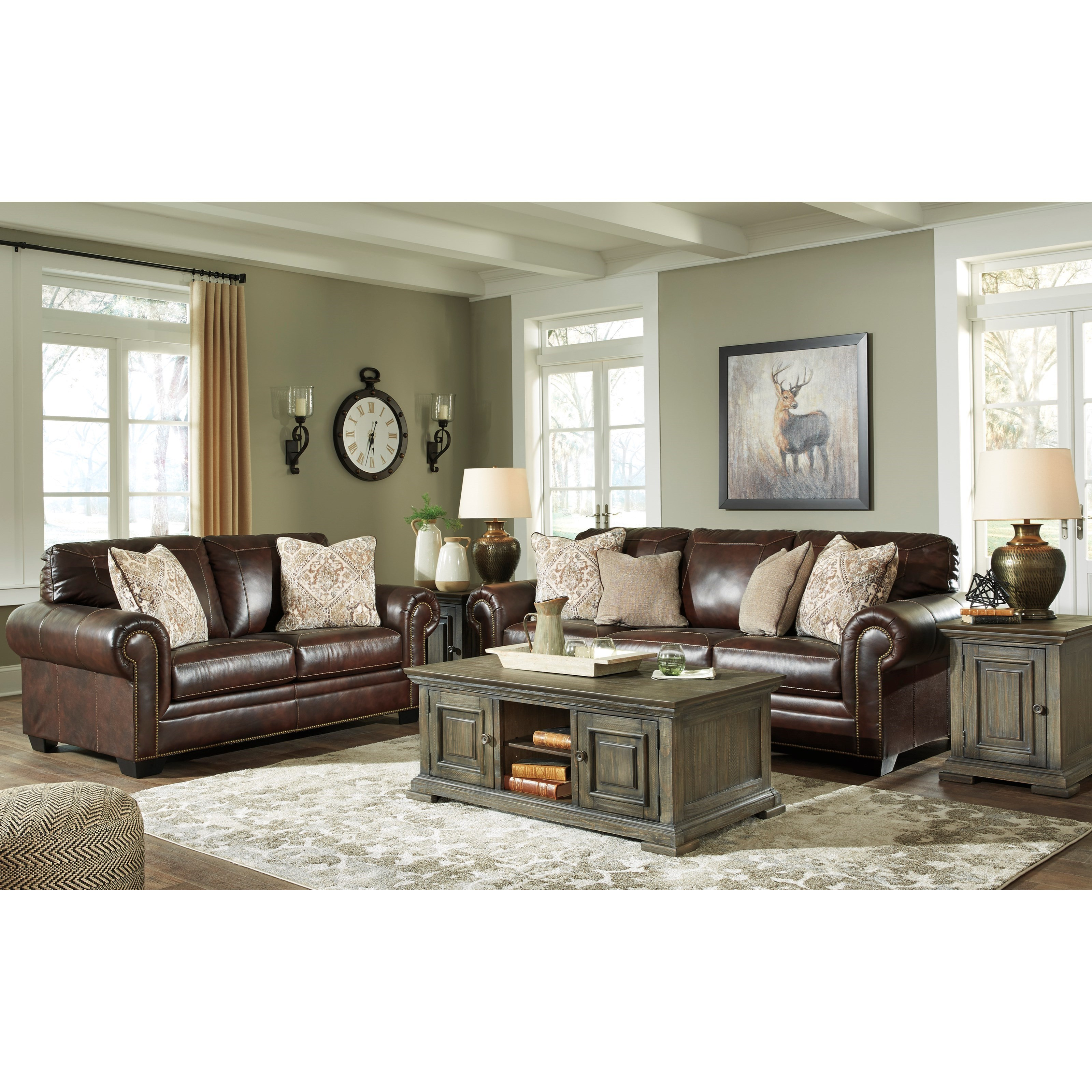 Roleson Stationary Living Room Group by Ashley Signature Design at Dunk & Bright Furniture