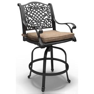 Set of 2 Swivel Barstools with Cushion
