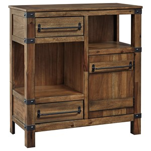 Rustic 2 Drawer Accent Cabinet with Adjustable Shelf