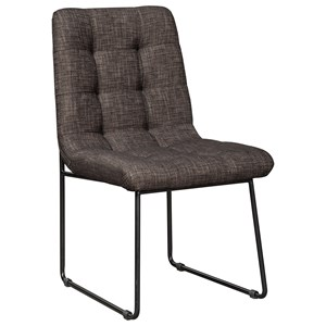 Modern Dark Brown Dining Upholstered Side Chair