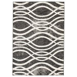 Signature Design by Ashley Contemporary Area Rugs Avi Gray/White Medium Rug