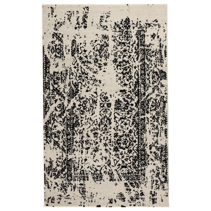 Contemporary Area Rugs Jag Black/White Large Rug by Signature at Walker's Furniture