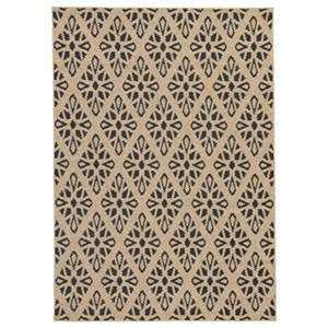 Signature Design by Ashley Contemporary Area Rugs Jerrod Black/Tan Large Rug