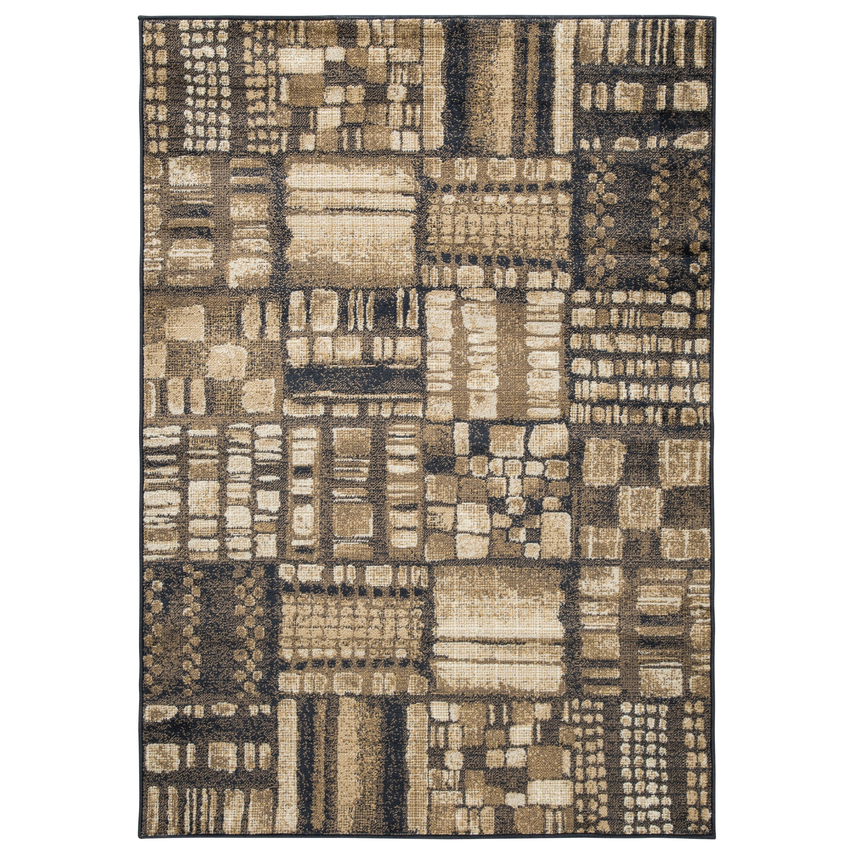 Hilliard Black/Brown Large Rug