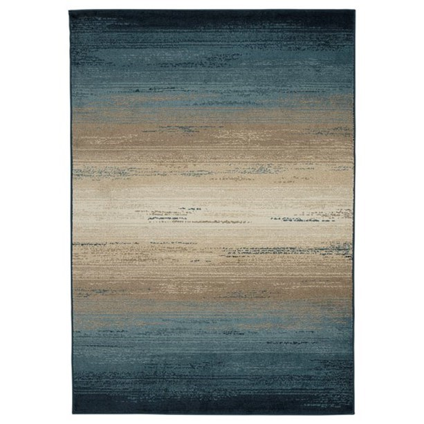 Contemporary Area Rugs Ignacio Blue/Tan Large Rug by Signature Design by Ashley at Home Furnishings Direct