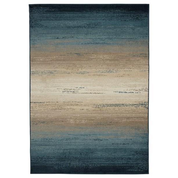 Contemporary Area Rugs Ignacio Blue/Tan Medium Rug by Signature at Walker's Furniture