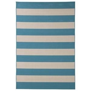 Signature Design by Ashley Contemporary Area Rugs Trentice Blue/Cream Large Rug