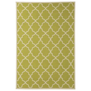 Signature Design by Ashley Contemporary Area Rugs Kerry Green/Cream Large Rug