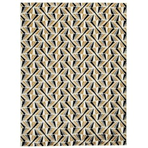Jaela Black/Gold/White Large Rug