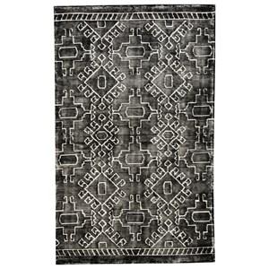 Signature Design by Ashley Contemporary Area Rugs Edmond Black/White Large Rug
