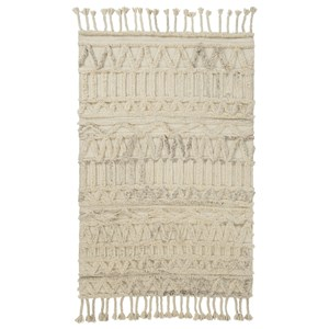 Signature Design by Ashley Contemporary Area Rugs Eleva Natural Large Rug
