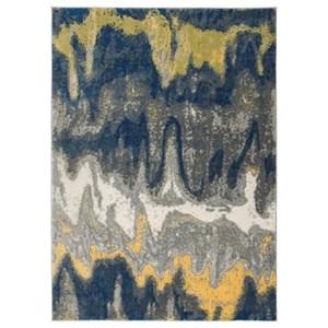 Signature Design by Ashley Contemporary Area Rugs Alanson Blue/Gray/Yellow Medium Rug