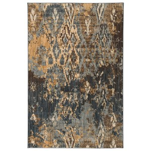 Signature Design by Ashley Contemporary Area Rugs Kayson Blue/Gray/Yellow Large Rug