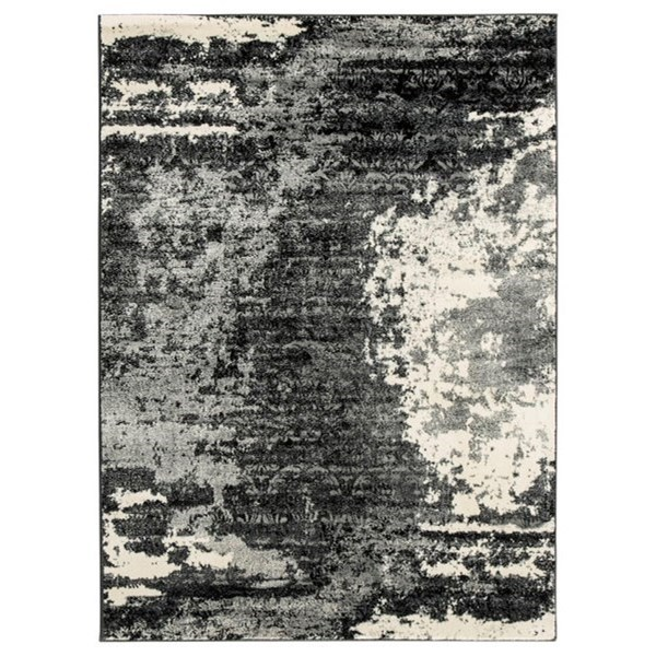 Contemporary Area Rugs Roskos Black/Gray Large Rug by Signature Design by Ashley at Smart Buy Furniture