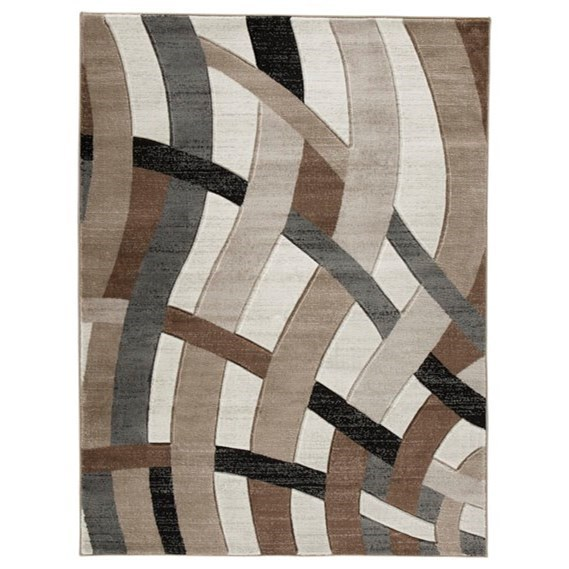 Contemporary Area Rugs Jacinth Brown Medium Rug by Signature Design by Ashley at Zak's Warehouse Clearance Center