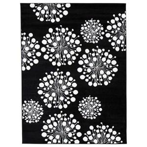 Signature Design by Ashley Contemporary Area Rugs Jaliyah Black/White Medium Rug