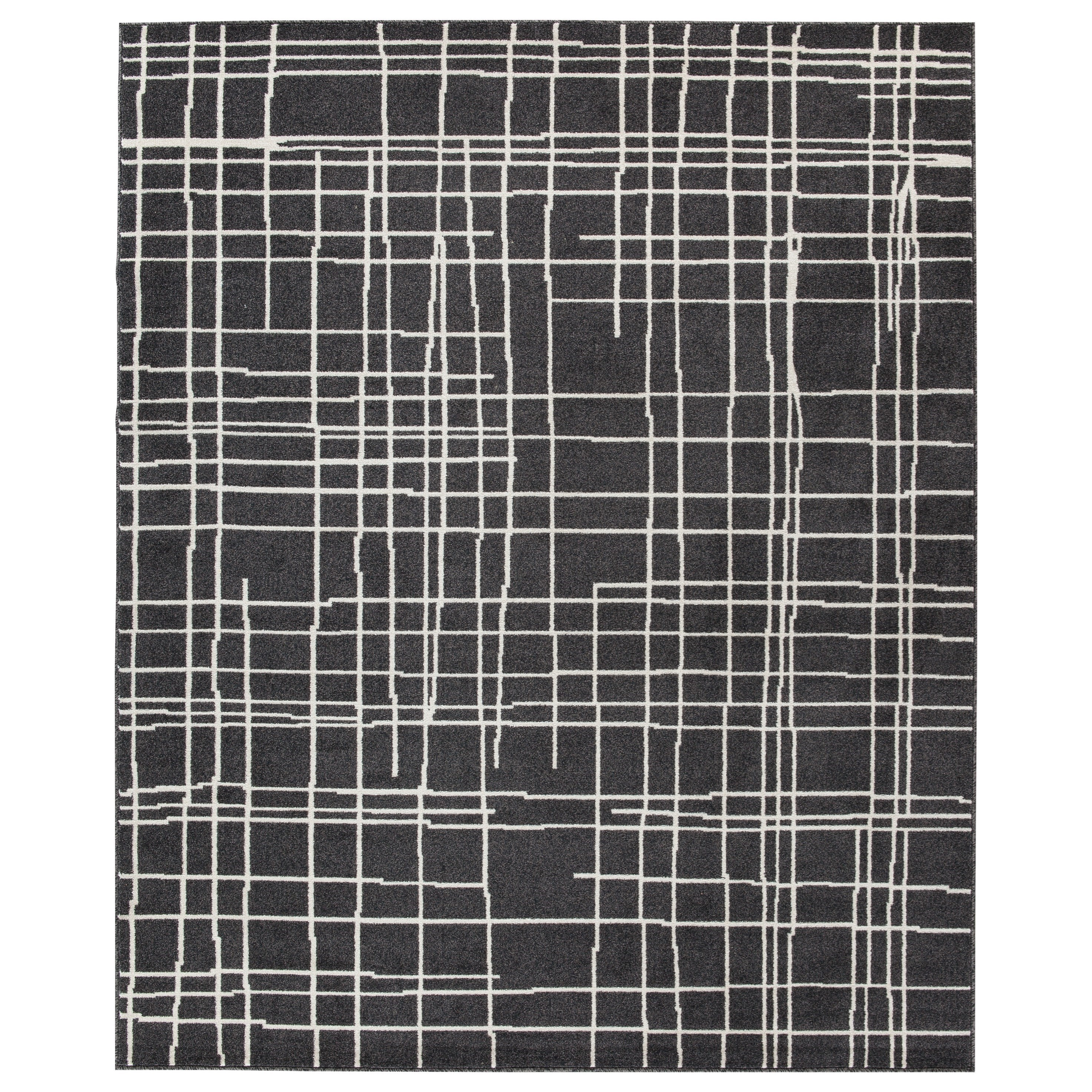 Contemporary Area Rugs Jai Black/White Large Rug by Signature Design by Ashley at Northeast Factory Direct