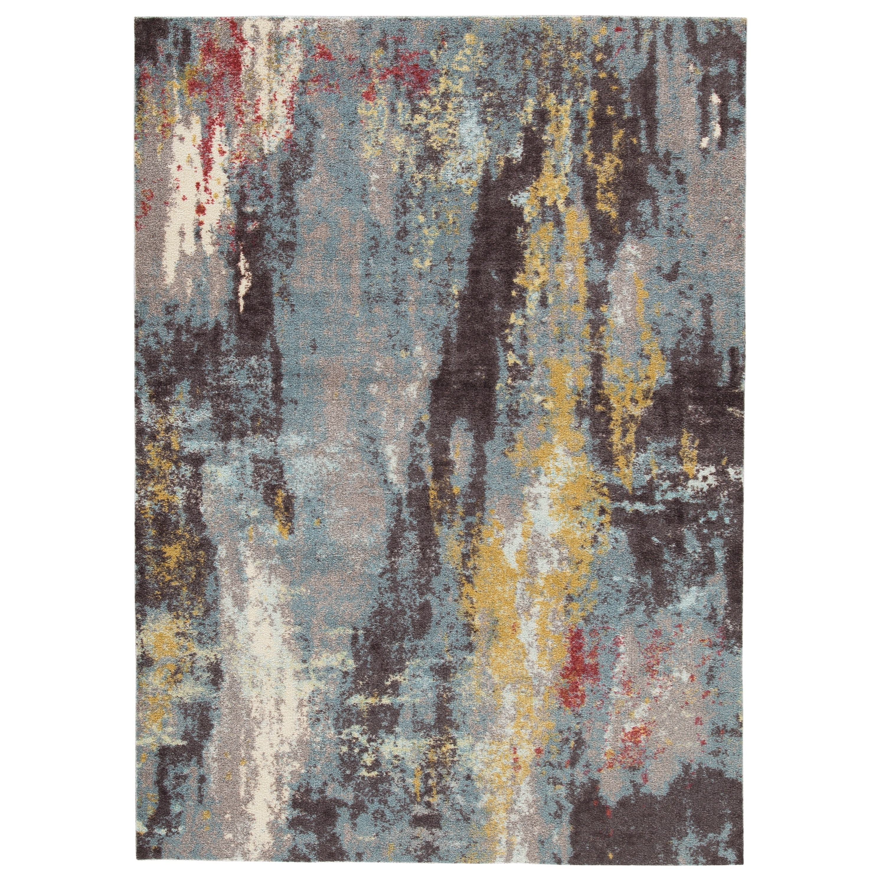 Contemporary Area Rugs Quent Blue/Gray/Yellow Medium Rug by Signature Design by Ashley at Coconis Furniture & Mattress 1st