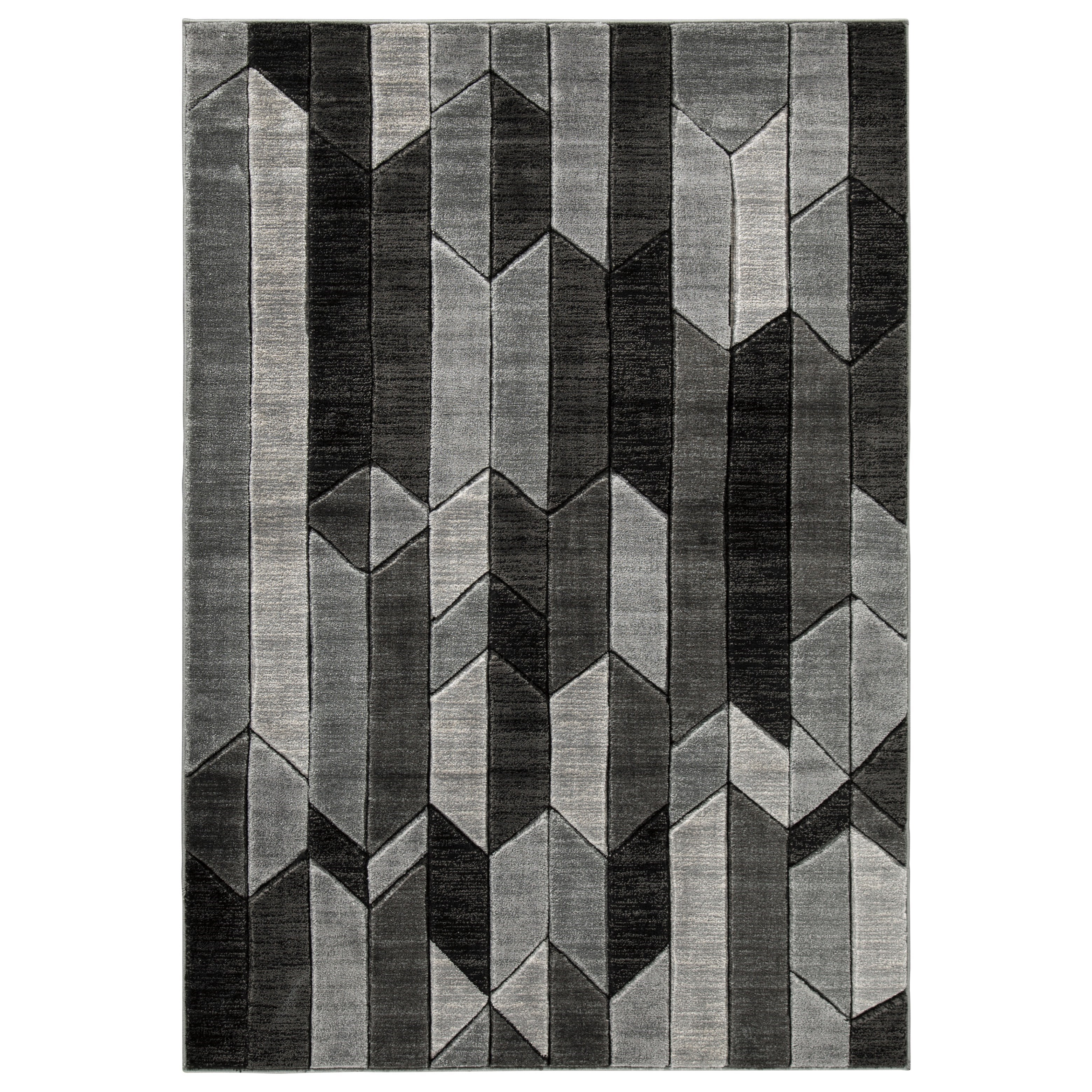 Contemporary Area Rugs Chayse Gray Medium Rug by Signature at Walker's Furniture