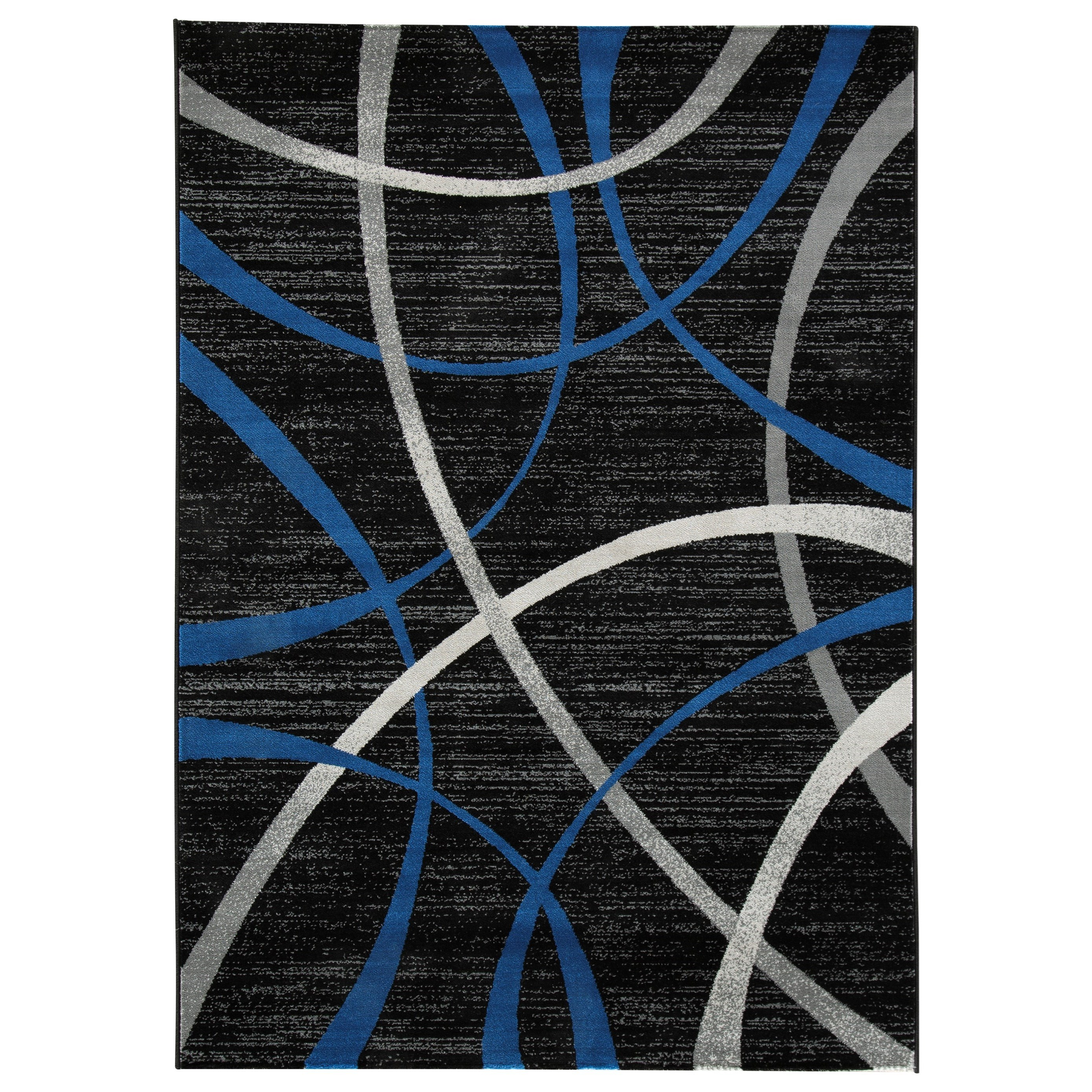 Contemporary Area Rugs Jenue Black/Gray/Blue Medium Rug by Signature at Walker's Furniture