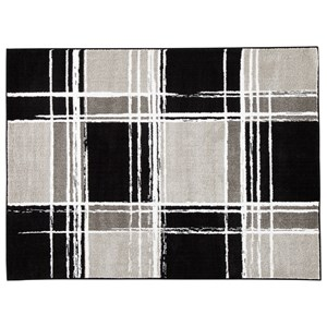 Ramy Black/White/Gray Large Rug