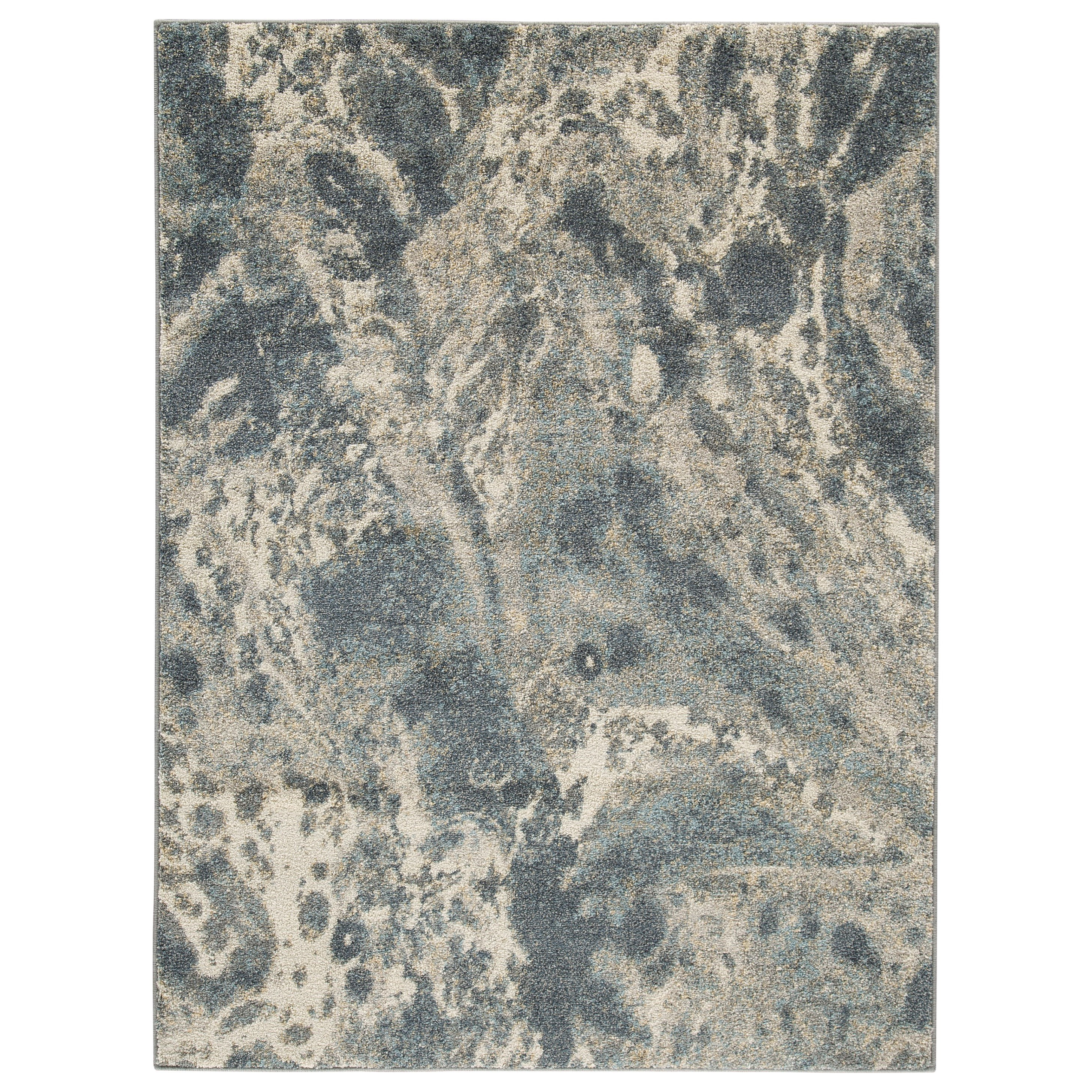 Contemporary Area Rugs Jyoti Blue/Gray/Tan Large Rug by Signature Design by Ashley at Northeast Factory Direct
