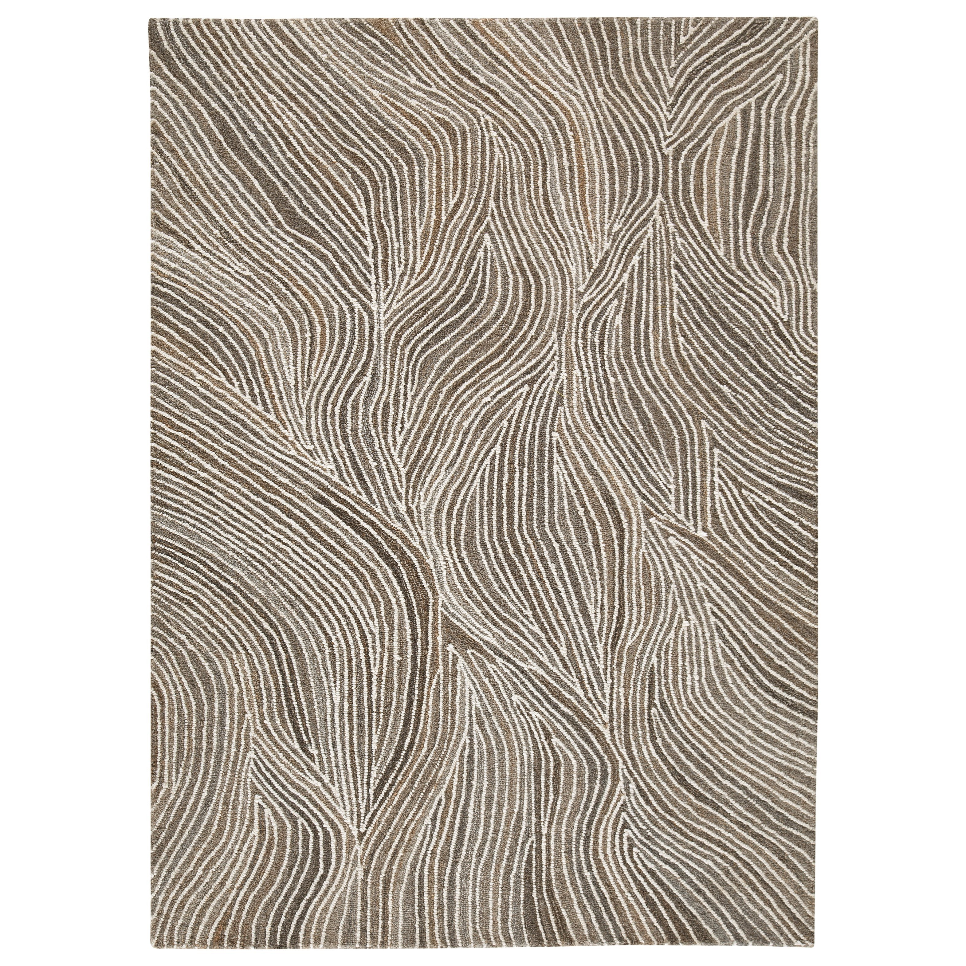 Contemporary Area Rugs Wysleigh Ivory/Brown/Gray Large Rug by Signature Design by Ashley at Simply Home by Lindy's