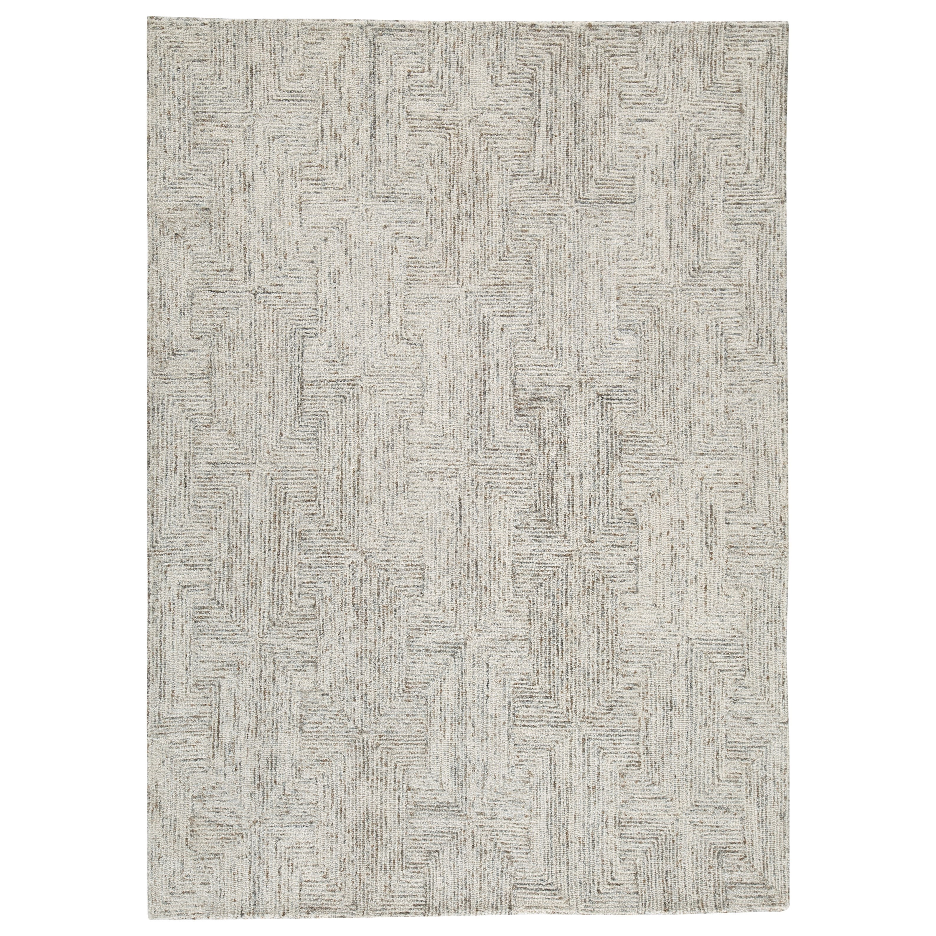 Contemporary Area Rugs Caronwell Ivory/Brown/Gray Large Rug by Signature Design by Ashley at Smart Buy Furniture