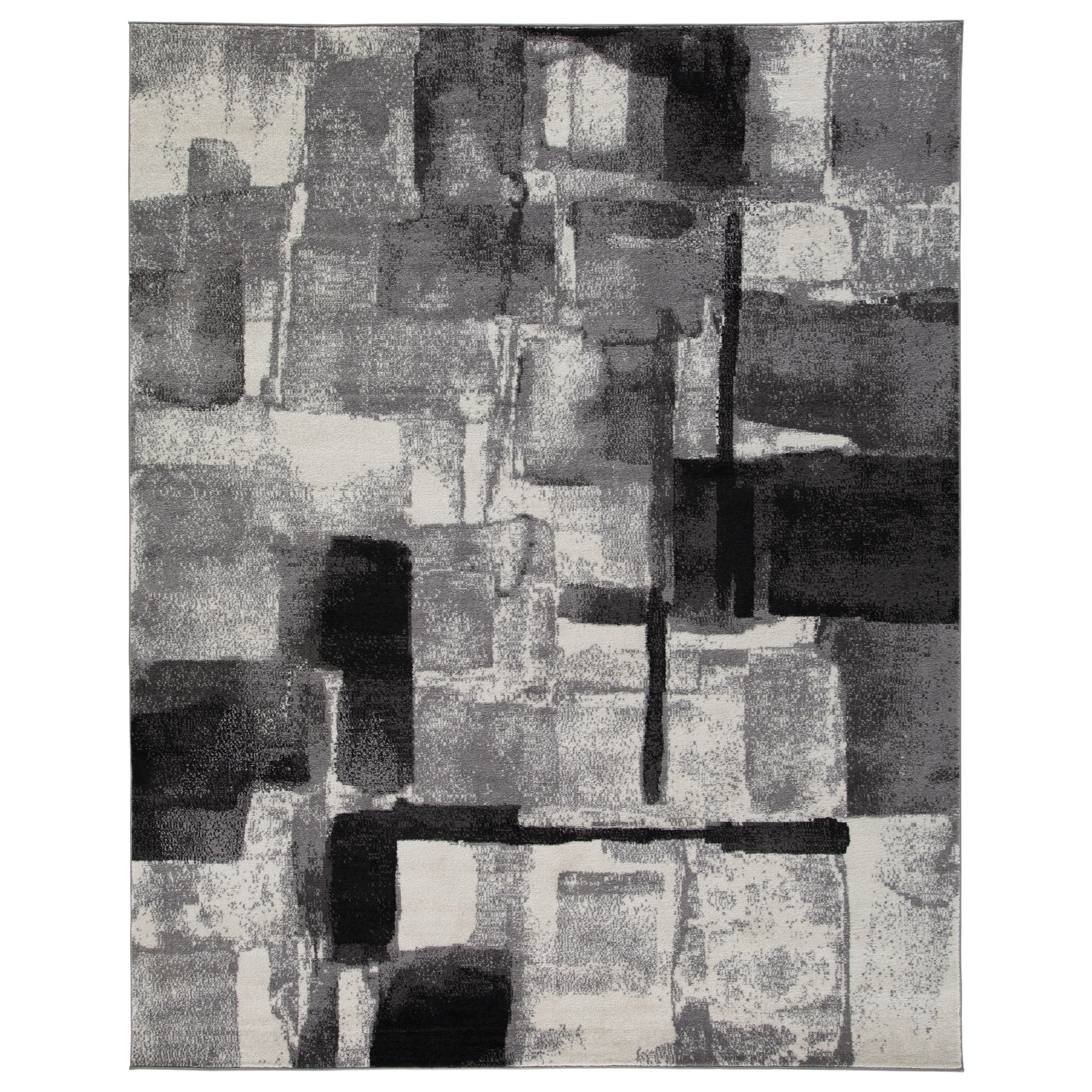 Contemporary Area Rugs Brycebourne Black/Cream/Gray Large Rug by Signature Design by Ashley at Zak's Home Outlet