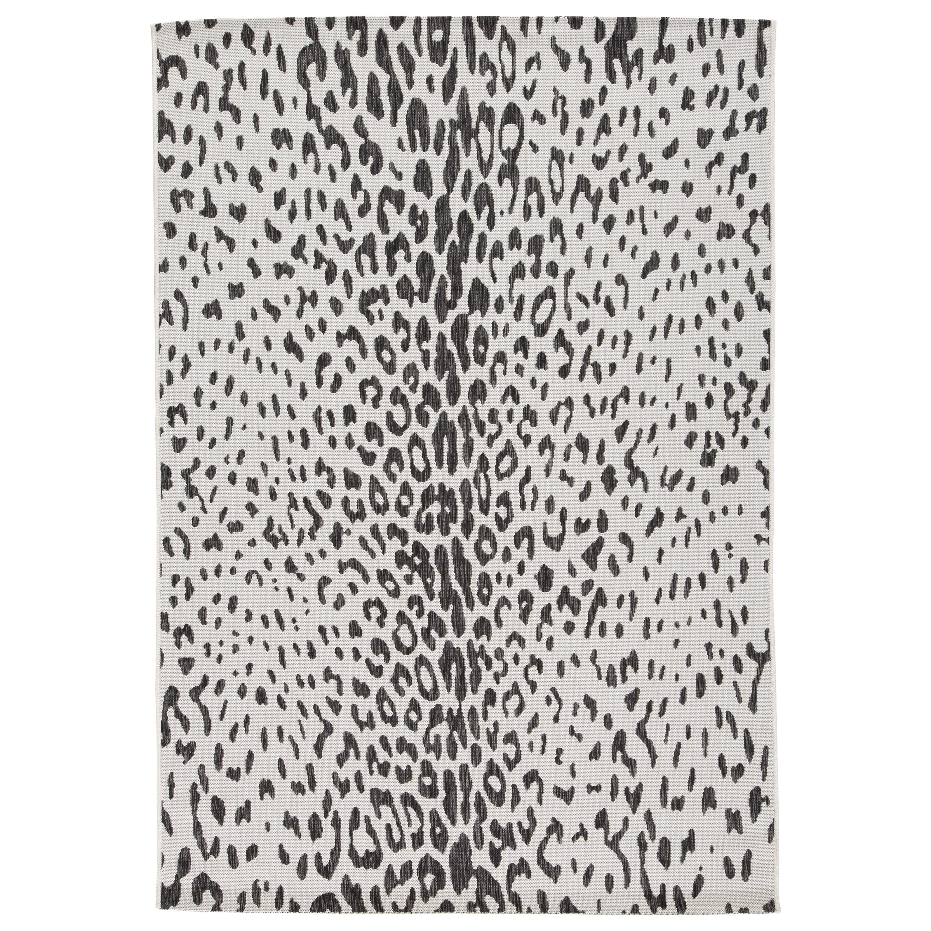 Contemporary Area Rugs Samya Black/White Indoor/Outdoor Medium Rug by Ashley Signature Design at Rooms and Rest