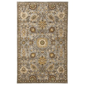Signature Design by Ashley Traditional Classics Area Rugs Dulani Green/Cream Medium Rug