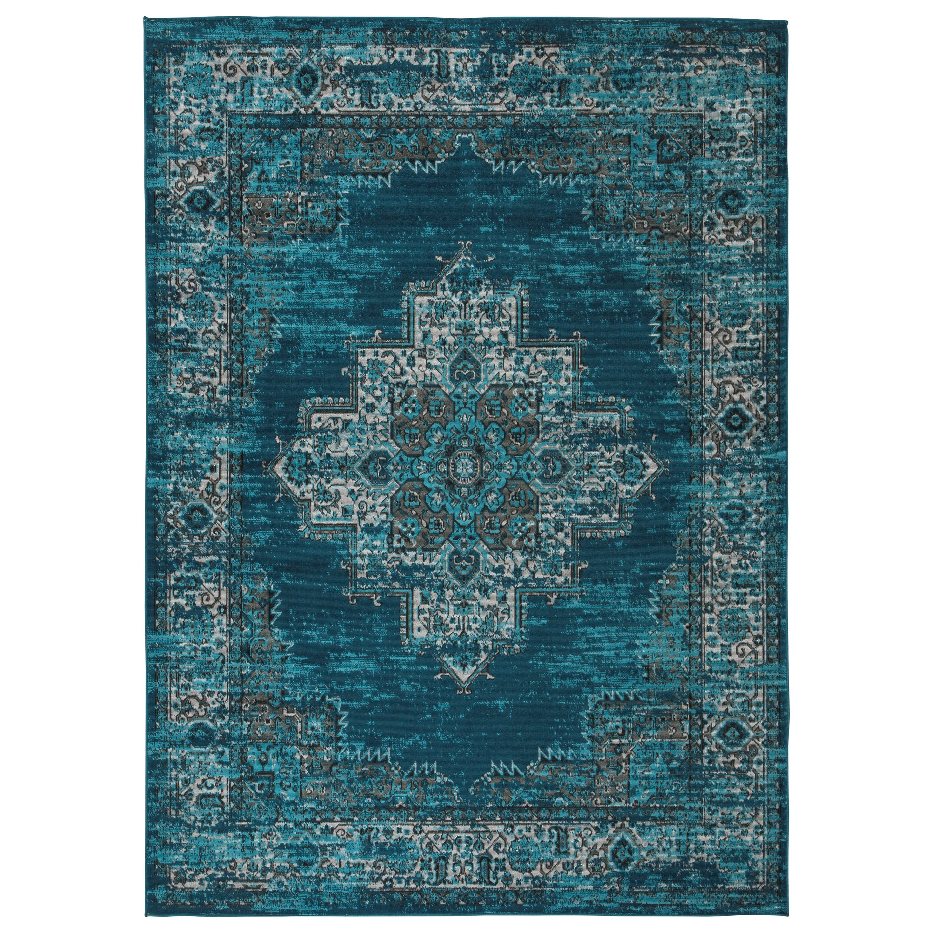 Traditional Classics Area Rugs Moore Blue/Teal Large Rug by Signature Design by Ashley at Northeast Factory Direct