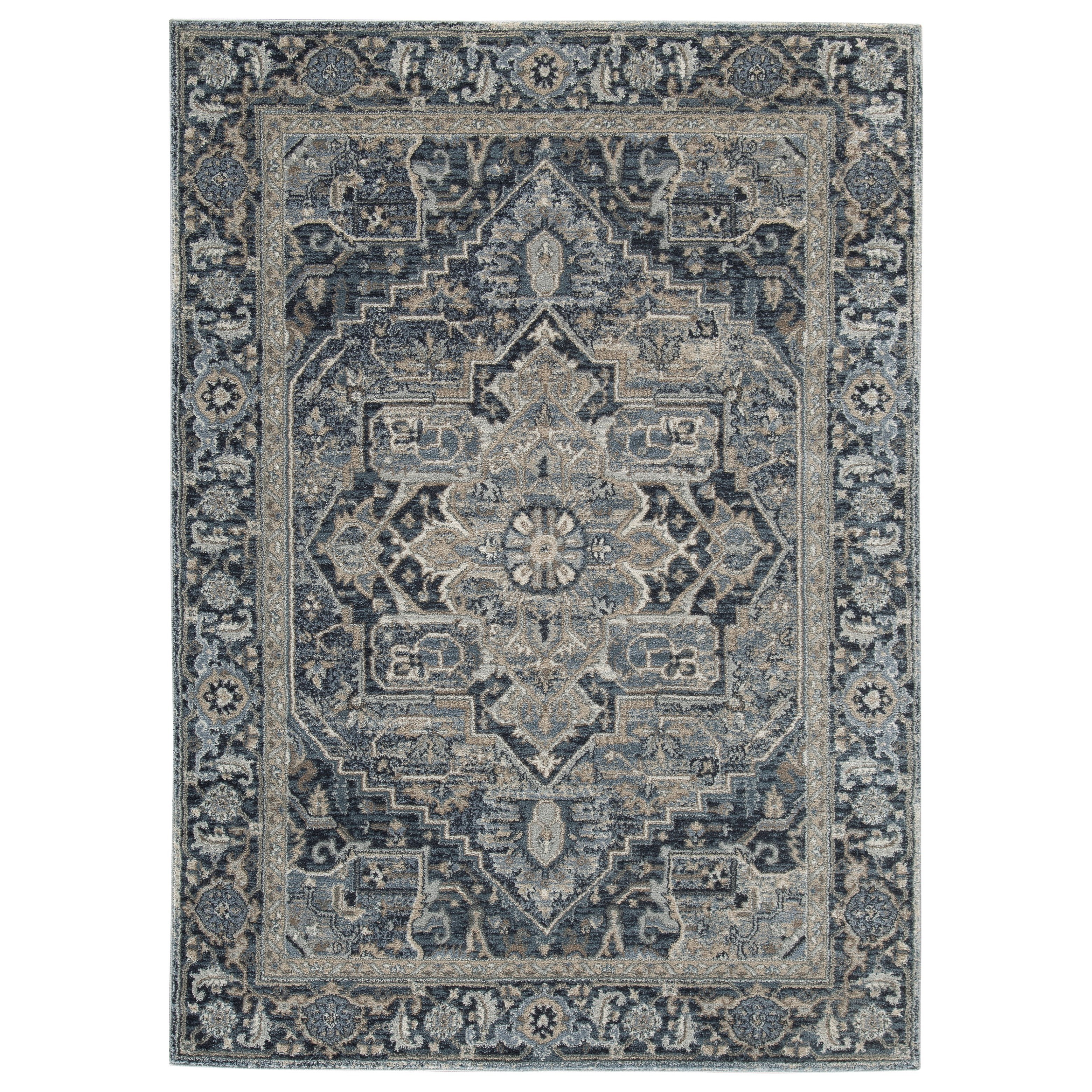 Traditional Classics Area Rugs Paretta Cream/Navy/Gray Large Rug by Signature Design by Ashley at Furniture Barn