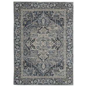 Paretta Cream/Navy/Gray Medium Rug