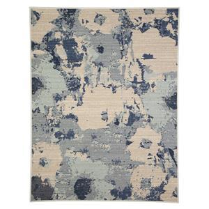 Signature Design by Ashley Transitional Area Rugs Lizette Blue Medium Rug
