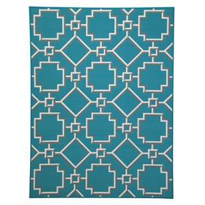 Signature Design by Ashley Transitional Area Rugs Zarek Turquoise Medium Rug
