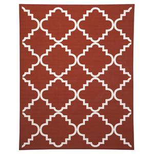 Signature Design by Ashley Transitional Area Rugs Bandele Orange/White Medium Rug