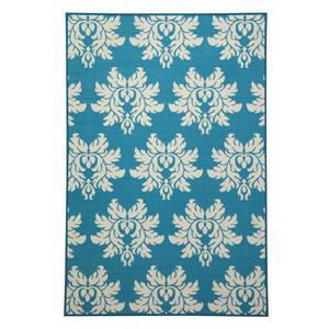Signature Design by Ashley Transitional Area Rugs Lia Turquoise Medium Rug