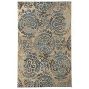Signature Design by Ashley Transitional Area Rugs Alazne Blue/Ivory Large Rug