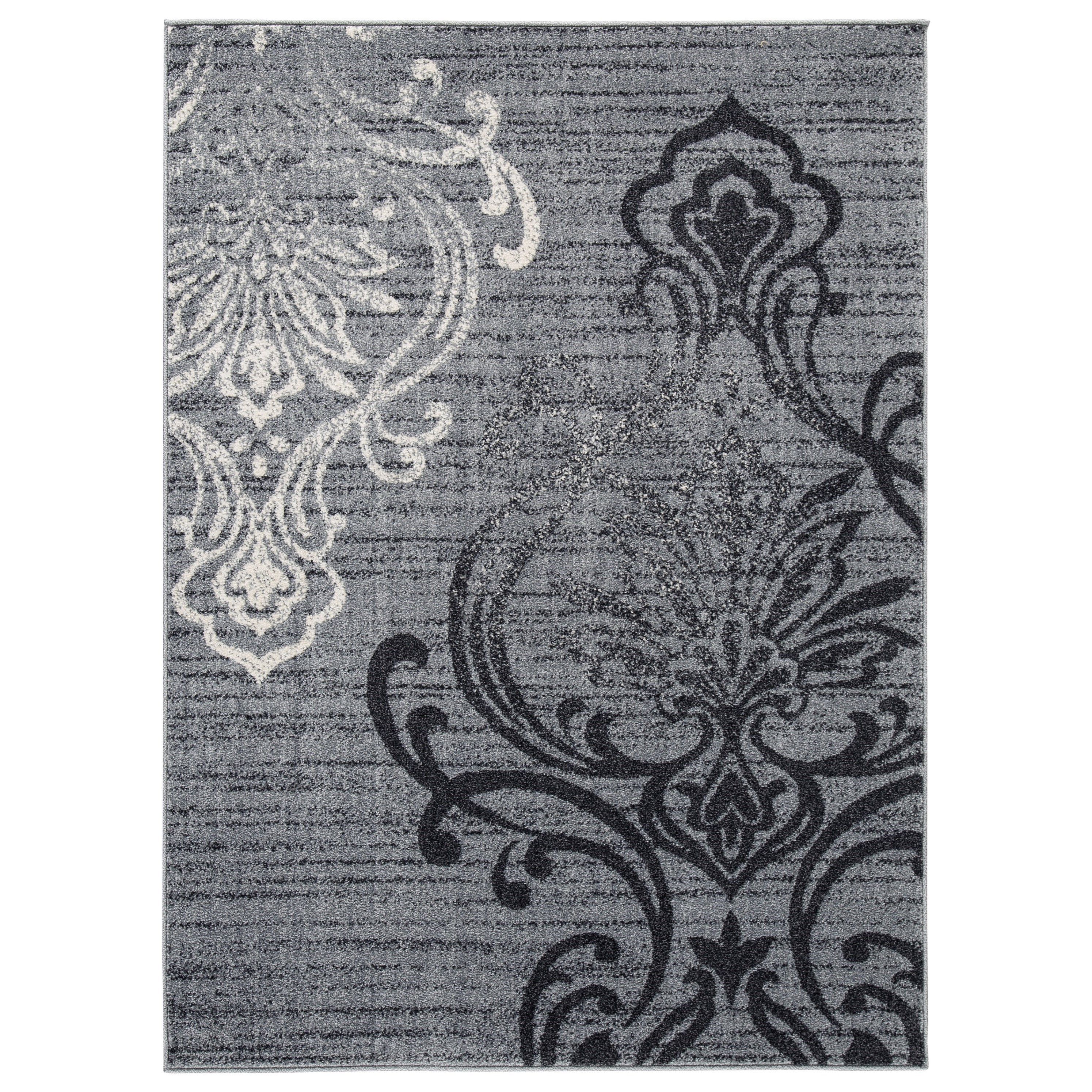 Transitional Area Rugs Verrill Gray/Black Large Rug at Van Hill Furniture