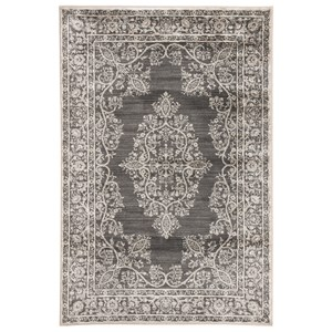 Signature Design by Ashley Transitional Area Rugs Ivy Town Gray Medium Rug