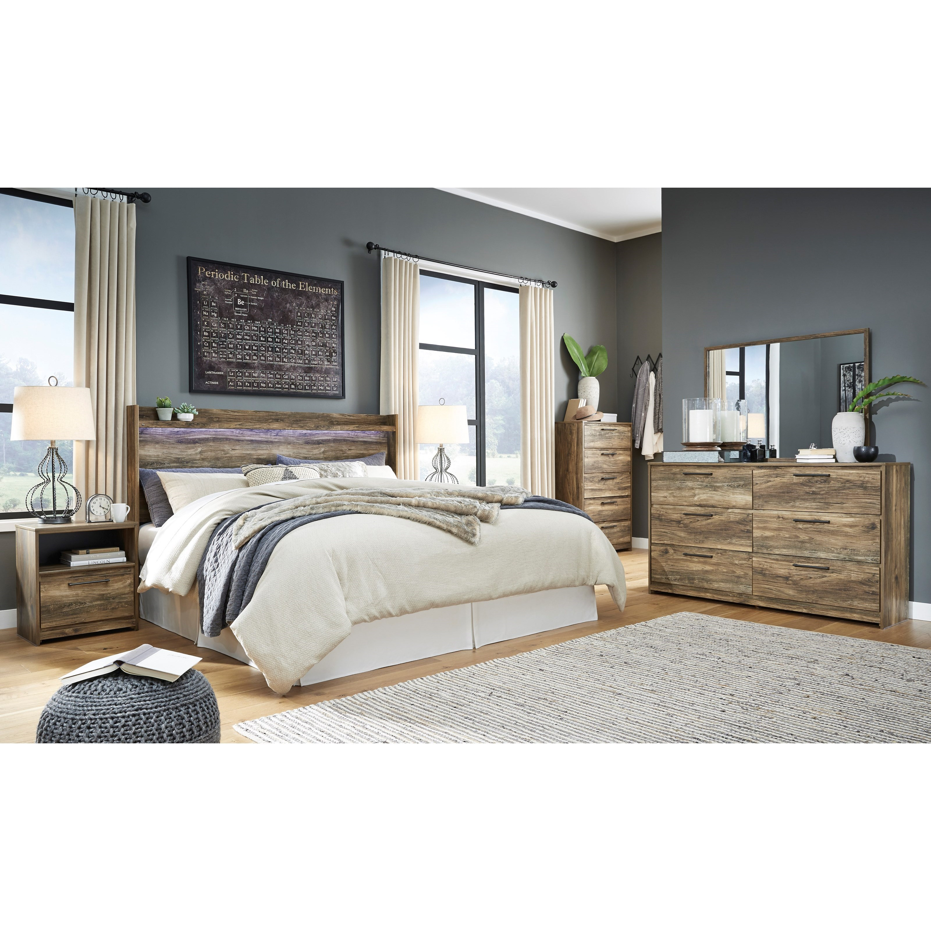 Rusthaven King Bedroom Group by Signature Design by Ashley at Rife's Home Furniture