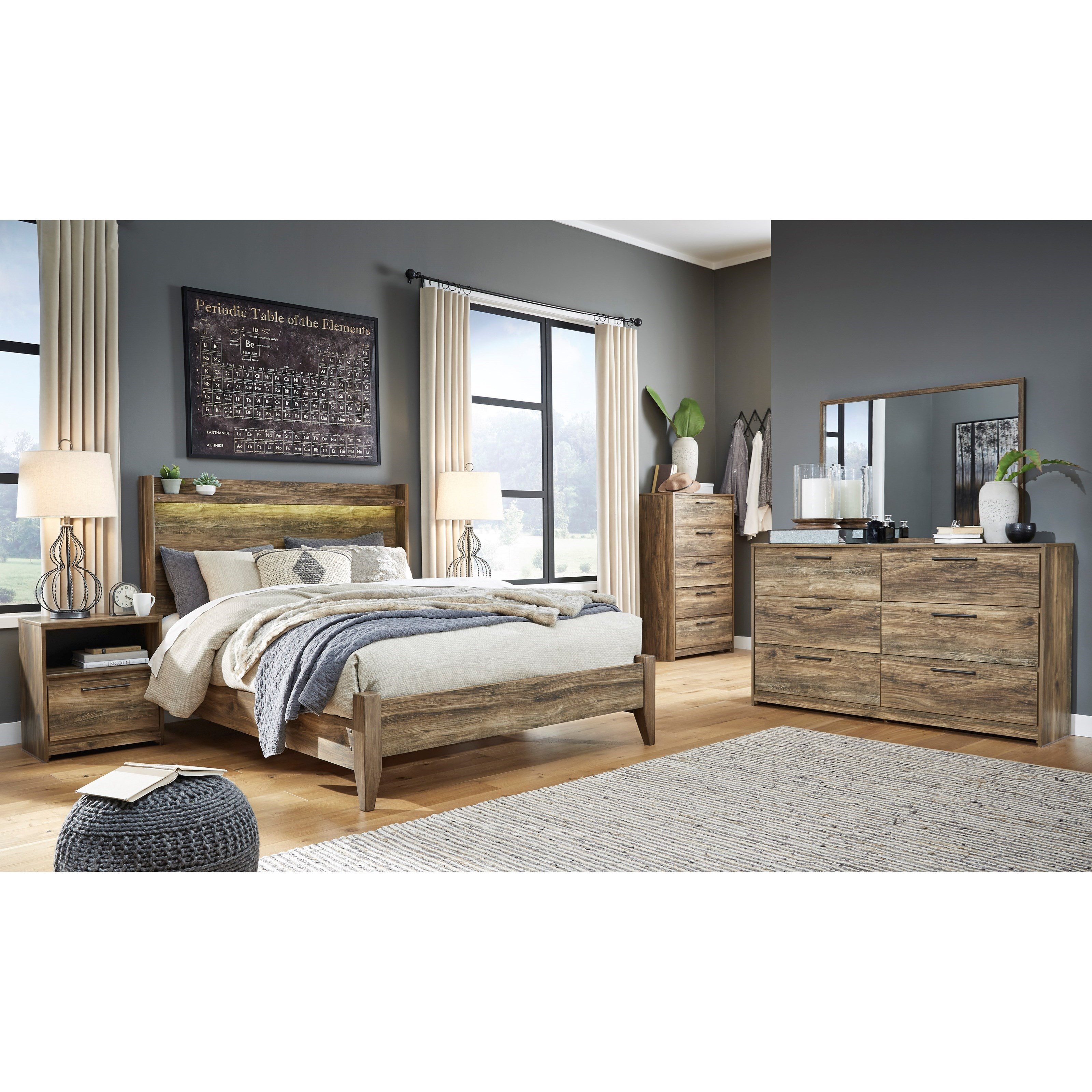 Rusthaven Queen Bedroom Group by Signature Design by Ashley at Home Furnishings Direct