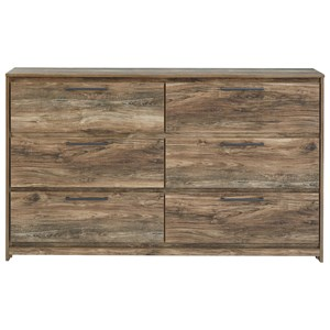 Rustic Modern Dresser with 6 Drawers