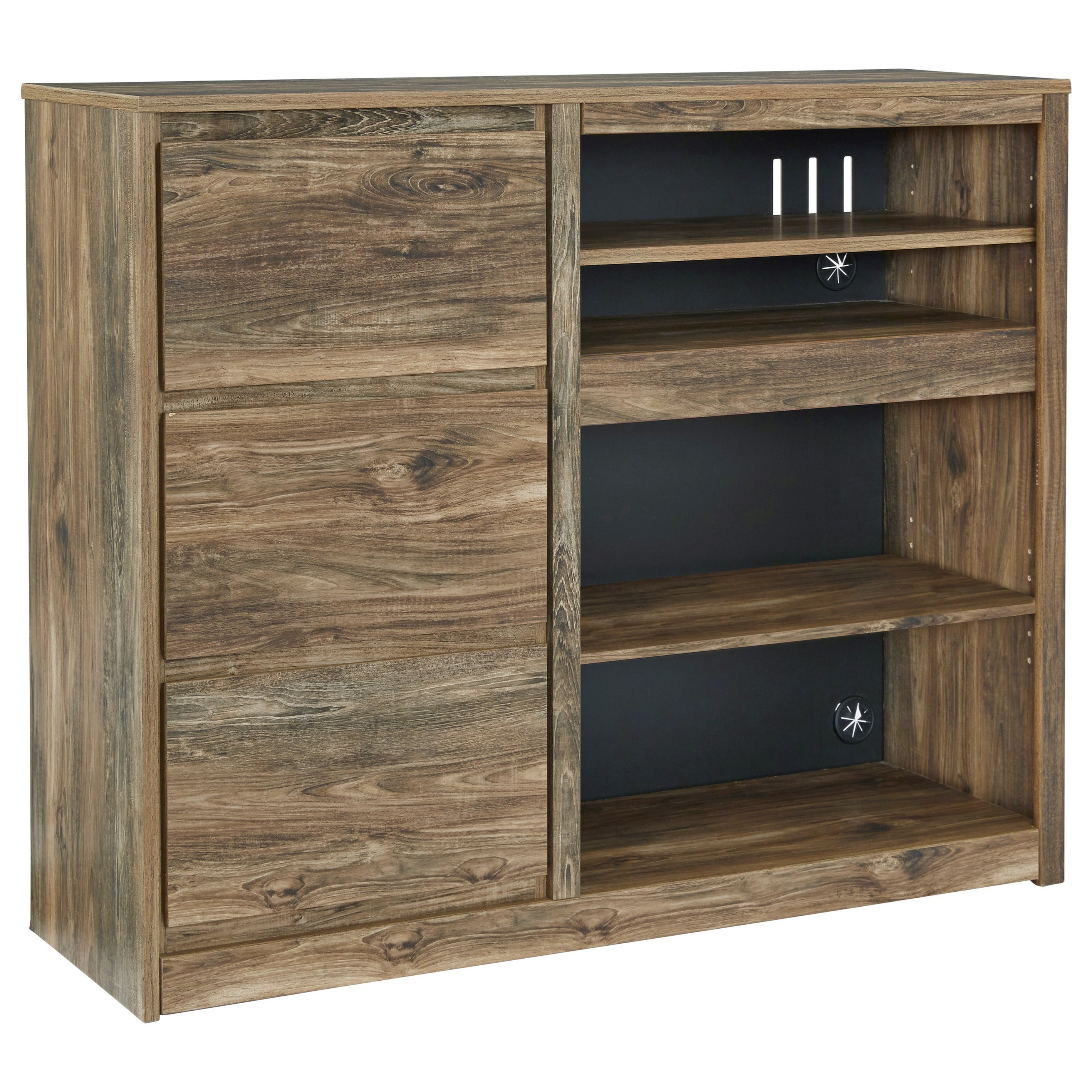 Rusthaven Media Chest by Signature Design at Fisher Home Furnishings