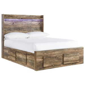 Rustic Modern Full Storage Bed
