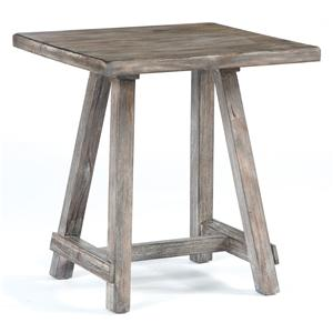 Distressed Driftwood Finish Chairside End Table
