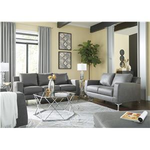 Charcoal Sofa and Chair Set