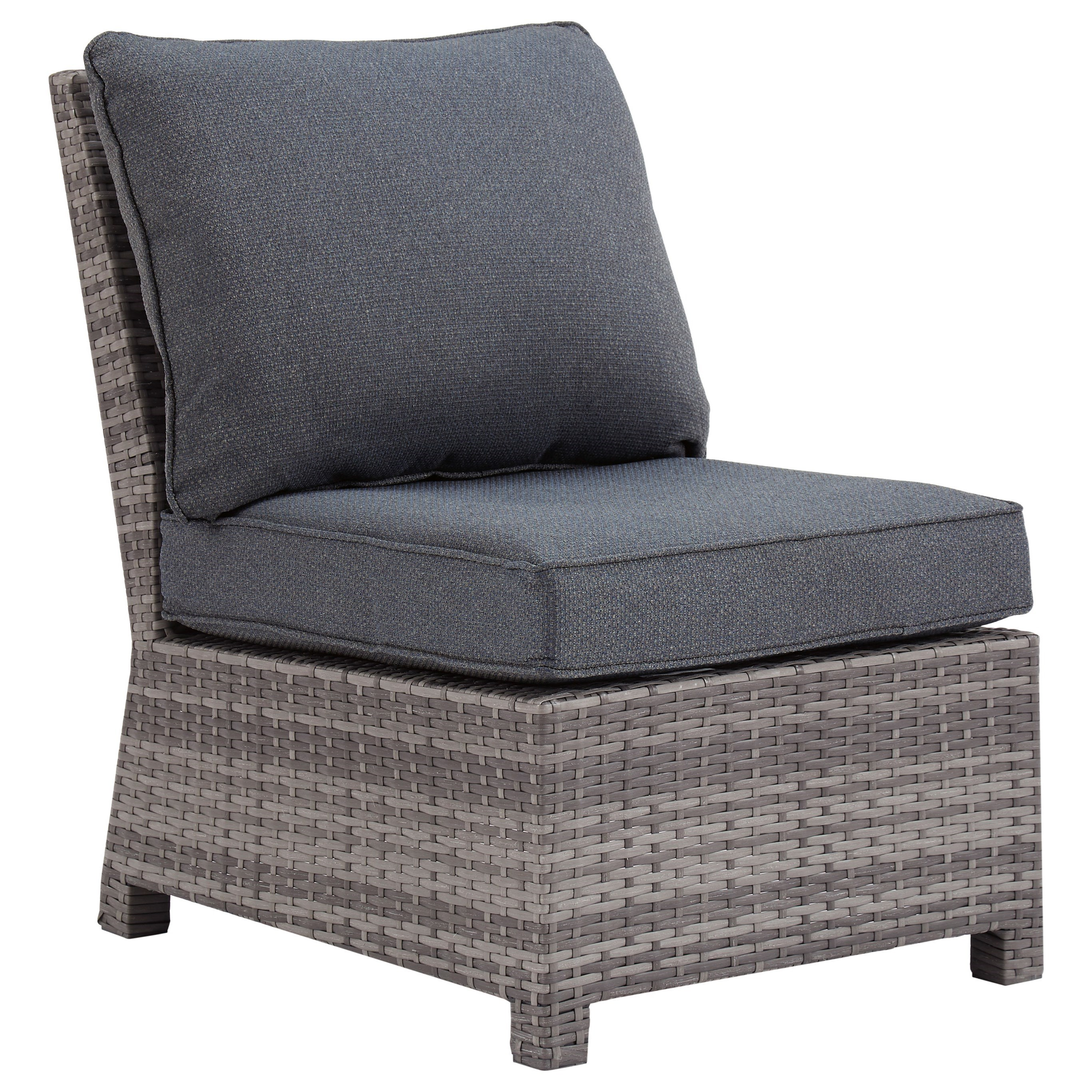 Salem Beach Armless Chair with Cushion by Signature Design by Ashley at Northeast Factory Direct